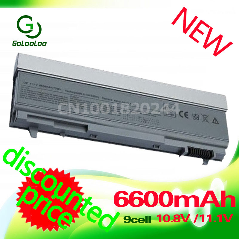 Golooloo 6600mAH 9 Cell Battery For dell Latitude E6400 E6410 E6510 E6500 FOR Precision M6500 M2400 M4400 M4500 M6400 russian backlit keyboard for dell latitude e6400 e6410 e5500 e5510 e6500 e6510 precision m2400 m4400 ru with backlit