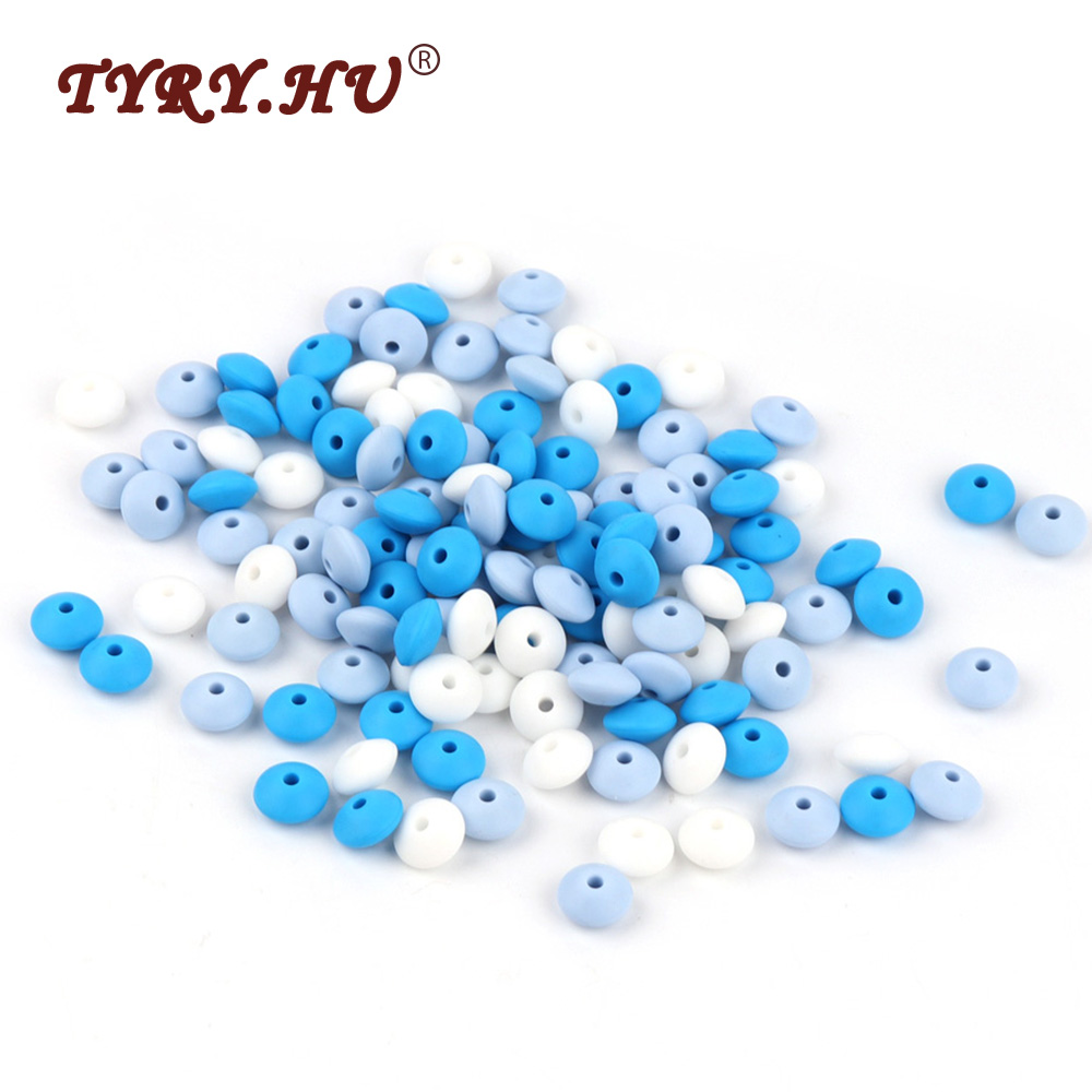 TYRY.HU Silicone Lentil Beads 60Pcs Baby Teething Silicone Beads BPA Free Baby Teethers Shower Gifts Infants Tooth Nursing Toys