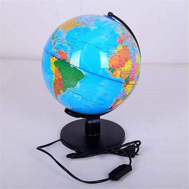 Led World Globe Map Night Light Table Desk Lamp Kids Gift Study