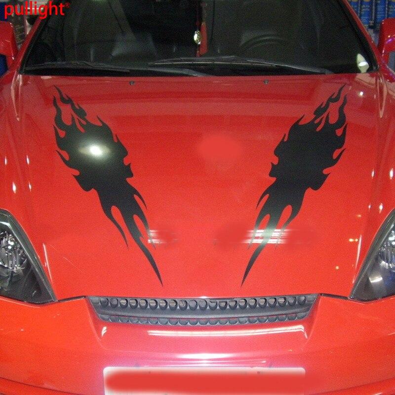 1 pair Car Racing Hot flames Fire Hood Decals Truck Vinyl Decor sticker