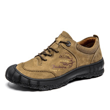 BACKCAMEL 2018 Autumn Winter New Mens Fashion Suede Leather Outdoor Waterproof Non-slip Shoes High Quality Boots Size 38-45