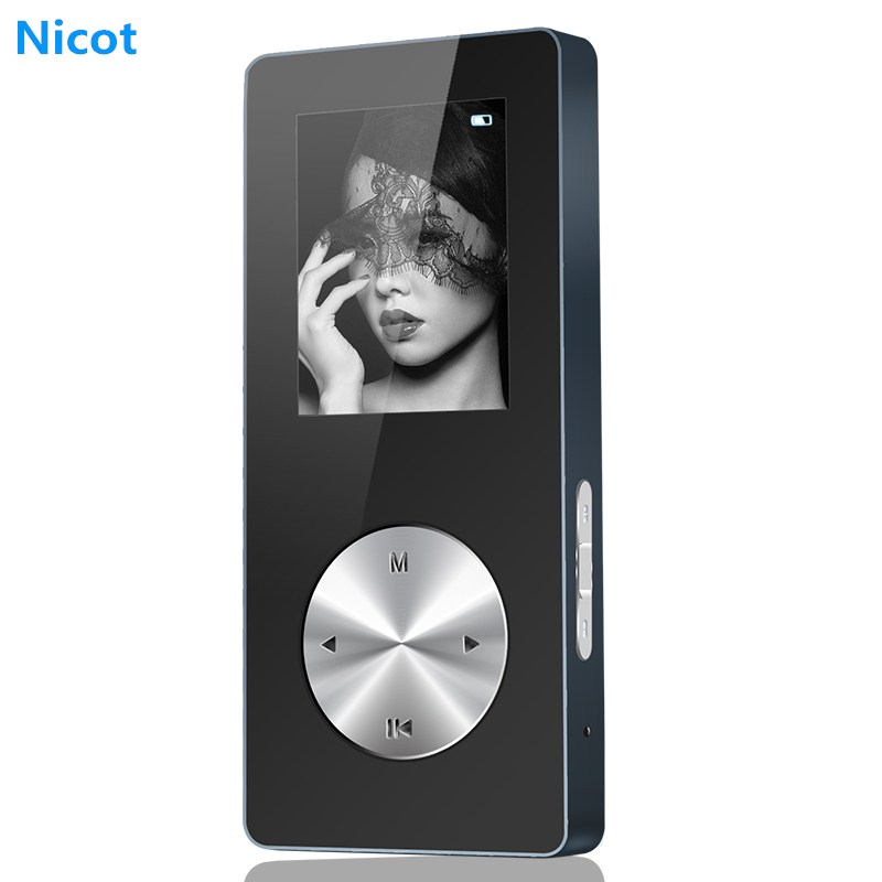 цена на NICOT Bluetooth MP3 Player 4G 8G 16G Metal Hifi Music Sport Mini Walkman Player MP3 With Speaker Support TF Card FM Recorder O5