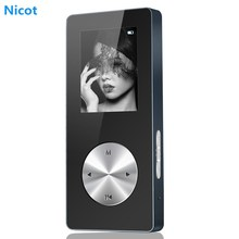 NICOT Bluetooth MP3 Player 4G 8G 16G Metal Hifi Music Sport Mini Walkman Player MP3 With Speaker Support TF Card FM Recorder O5
