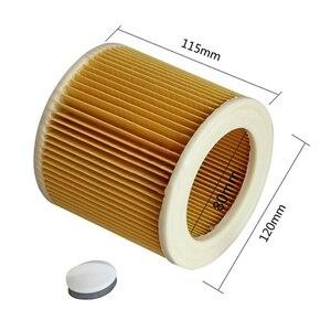 Image 2 - 3 шт. пылезащитные фильтры для Karcher Запчасти для пылесосов картридж HEPA фильтр WD2250 WD3.200 MV2 MV3 WD3 фильтр Karcher