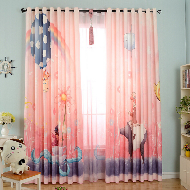 Popular baby pink curtains buy cheap baby pink curtains for Cheap childrens curtain fabric