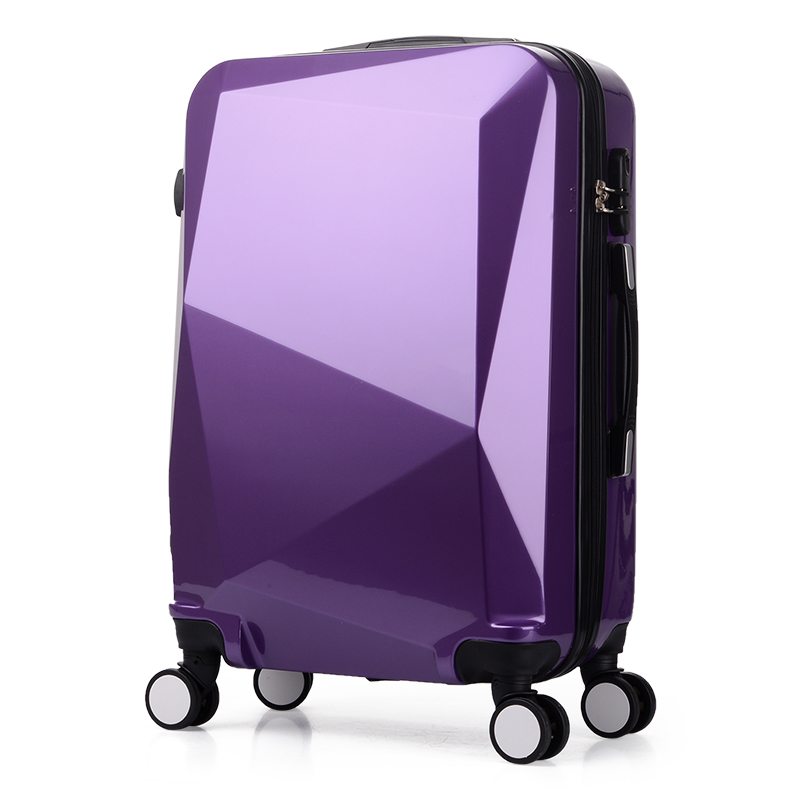 HOT 2024 inches Diamond cut surface 3D extrusion ABS+PC Pull rod box Travel luggage suitcase creative Boarding box wholesale
