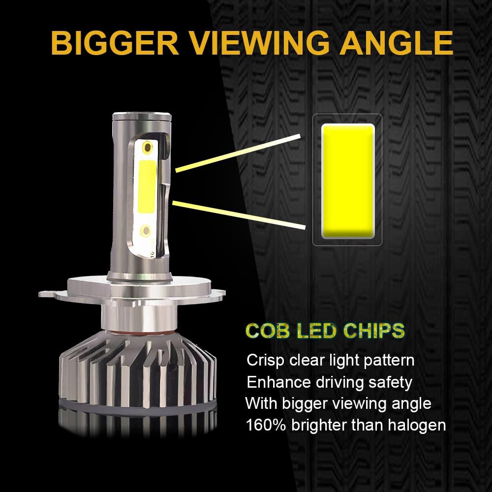 YHKOMS Canbus Car Headlight LED H4 H7 3000K 4300K 6500K 8000K LED Bulb H11 H8 H1 YHKOMS Canbus Car Headlight LED H4 H7 3000K 4300K 6500K 8000K LED Bulb H11 H8 H1 H3 9005 9006 880 881 H27 Auto Fog Light Lamp