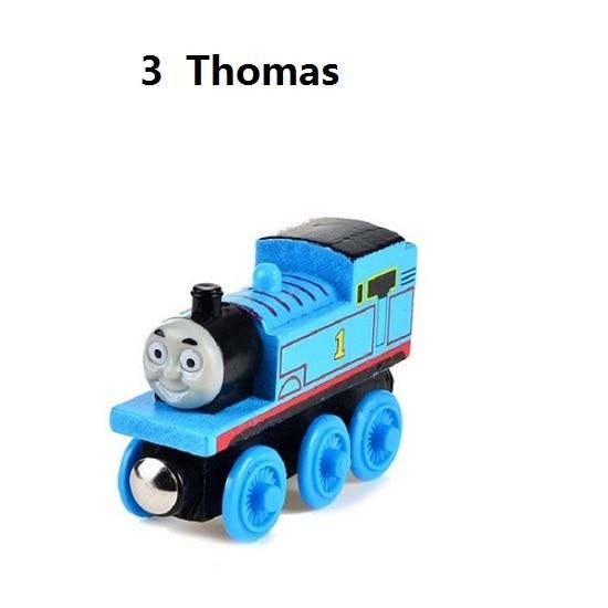 Деревянные магнитные паровозики, игрушки для железной дороги, деревянные паровозики для детей, подарок для детей, модель поезда - Цвет: Оранжевый