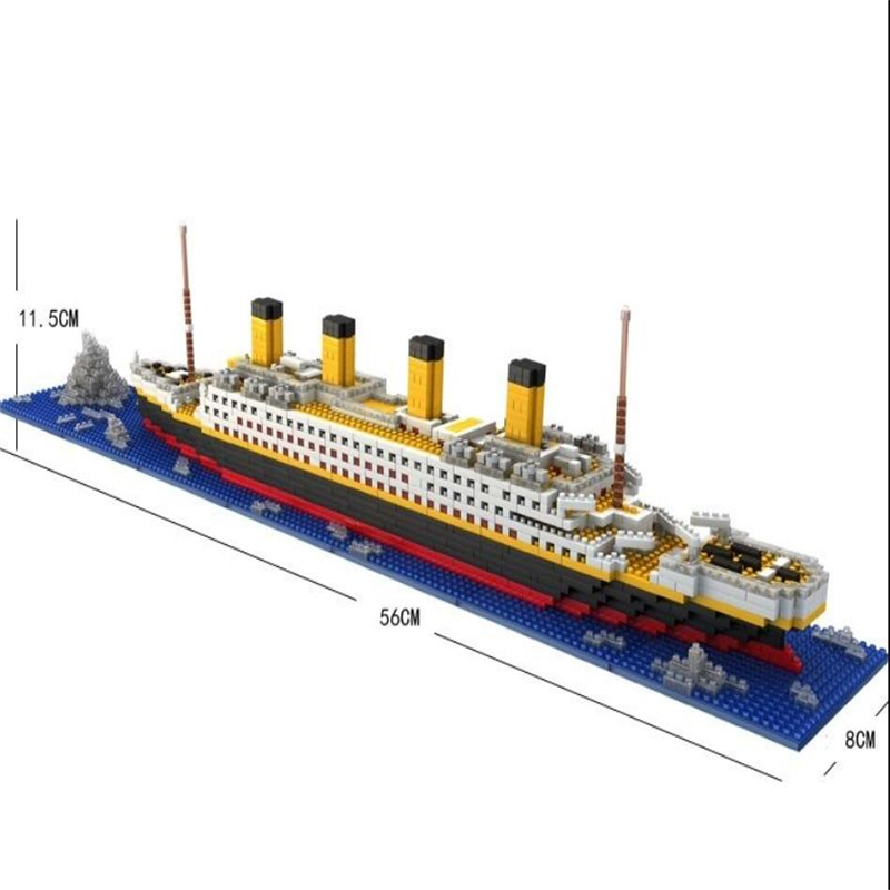 1860pcs Titanic Ship 3D Mini DIY Building Blocks Titanic Boat Model Educational Gift Toy for Children Compatible With legoe