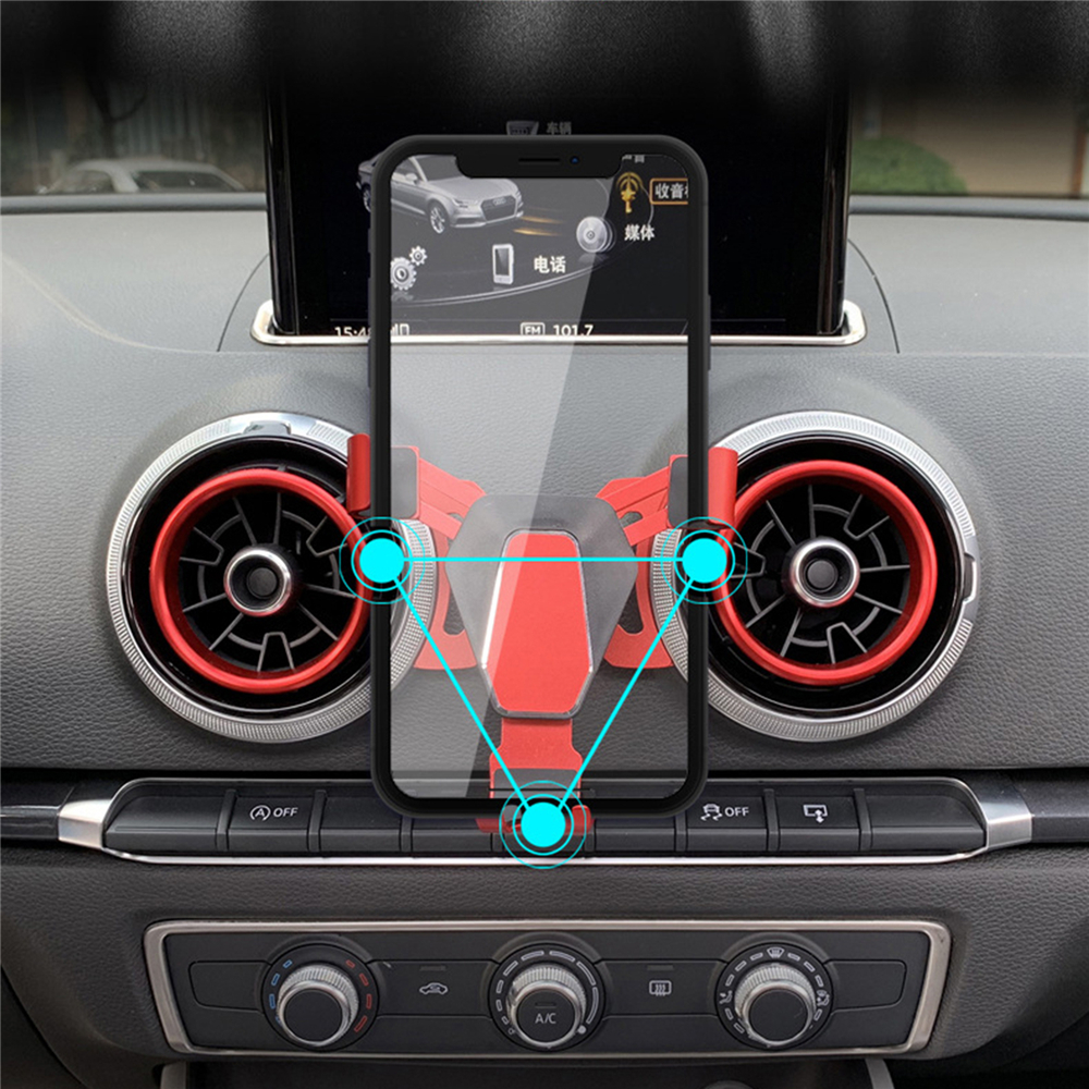 Gravity Car Air Vent Phone Holder For Audi A3 S3 Above 2014 Universal Mobile Phone Car GPS Bracket Stand 360 Degrees Rotation