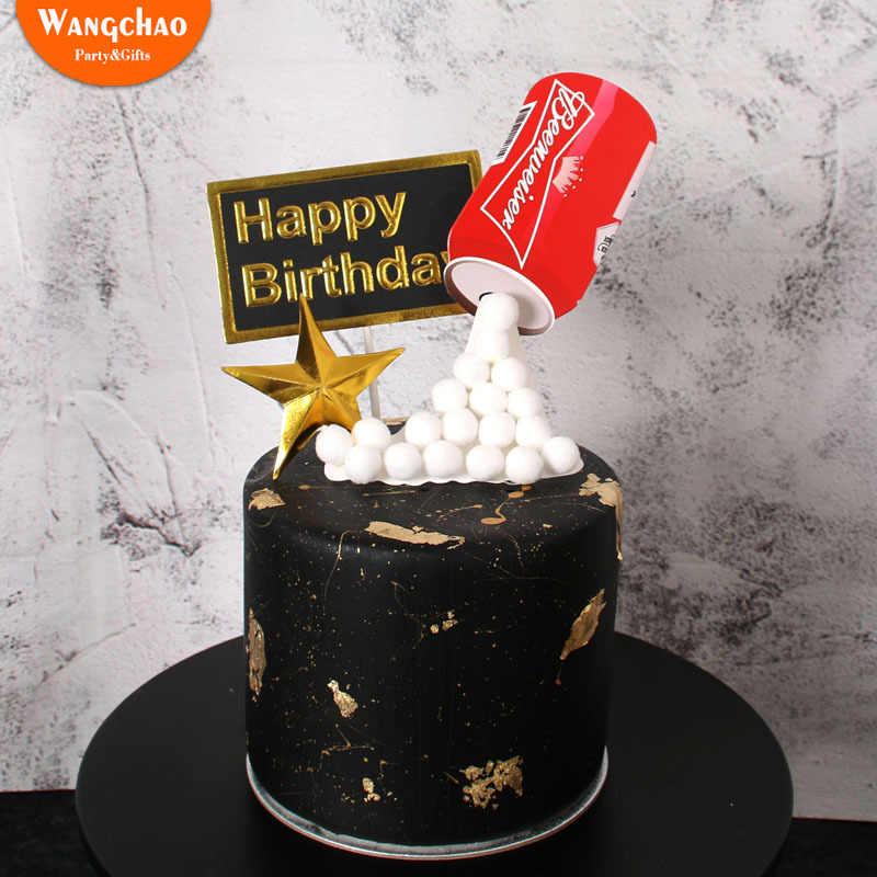 3d Bir Fondant Kue Dekorasi Dewasa Selamat Ulang Tahun Kue Topper Perlengkapan Pesta Anak Laki Laki Ulang Tahun Diy Dekorasi Kue Aliexpress