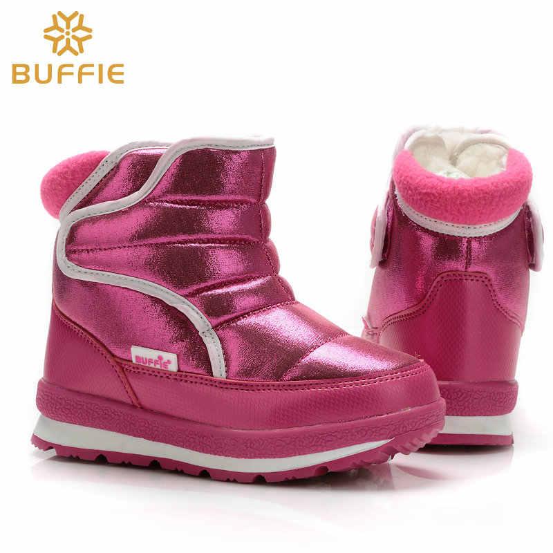 0d8387e3b12b Женские зимние ботинки, брендовая обувь, модные теплые однотонные ботинки  цвета фуксии, непромокаемые ботинки