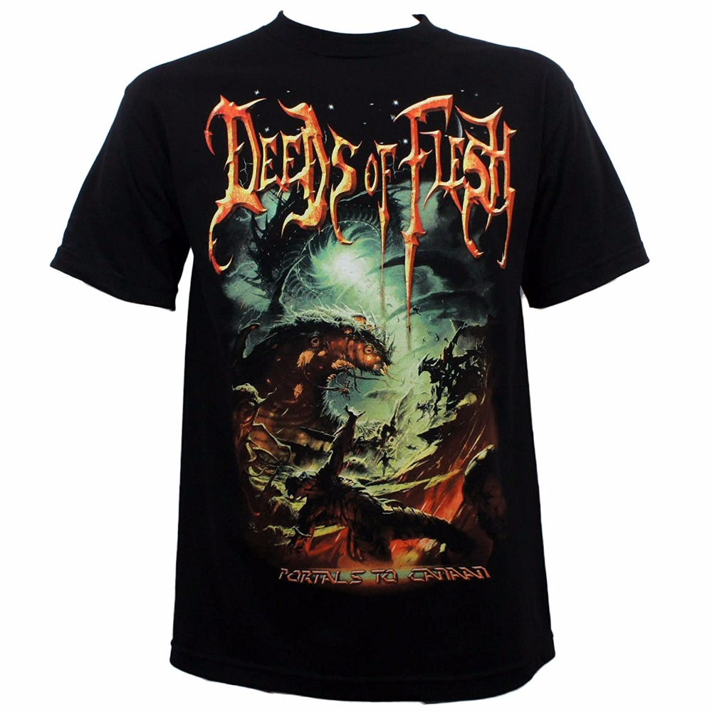 Order Custom T Shirts Mens Regular Short O-Neck Deeds Of Flesh Band Portals To Canaan Album Cover T-Shirt S-3XL New Tee Shirt