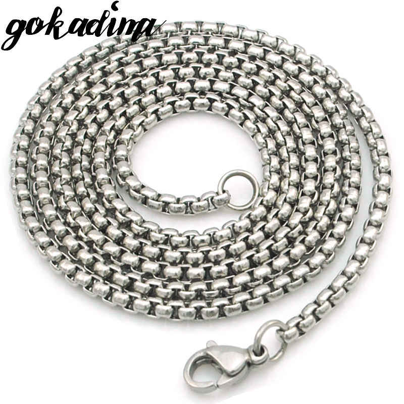 GOKADIMA women Stainless Steel Chain Men Necklace Jewelry Accessories, link chain Wholesale WN324