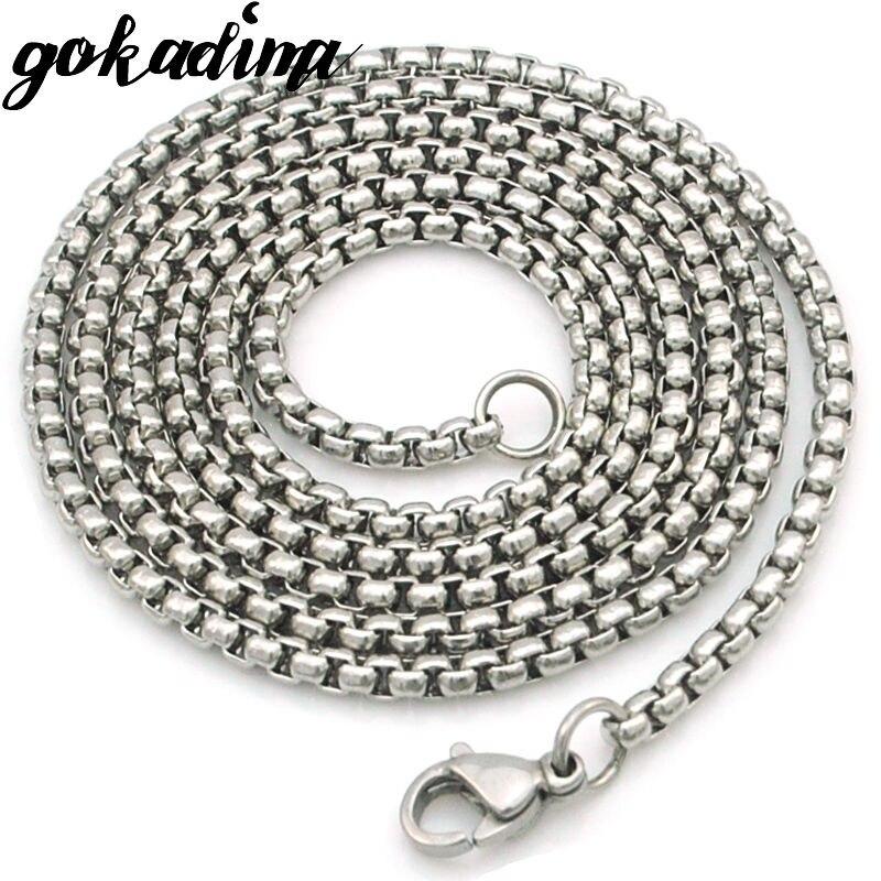 GOKADIMA women Stainless Steel Chain Men Necklace