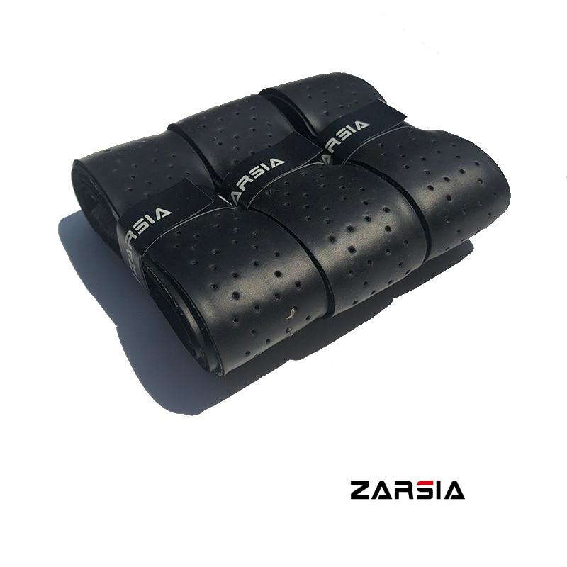 1pc ZARSIA PU Leather Sweatband Tennis Racket Grip Thick Black Leather Handle Grip For Tennis Racket