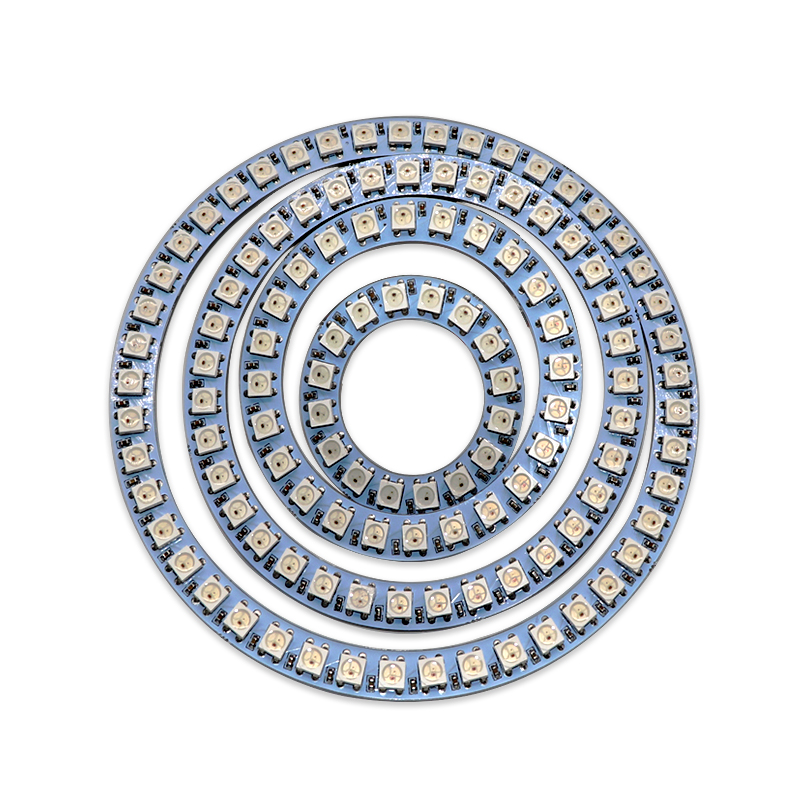 Pixel RGB LED Ring 16LEDs 24LEDs 35LEDs 45LEDs WS2812 5050 RGB LED Module Full-color actuate lights