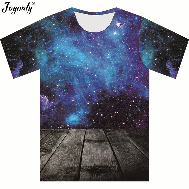 Joyonly T-Shirt Tops Short-Sleeve Funny Girl Boys Children Summer for Night-Space Blue