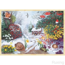 5DDIY Diamond Painting landscape Cottage snow scene picture Cross Stitch Full Scenery diamond Embroidery Christmas gift