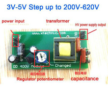 DYKB DC-DC Boost Converter High Voltage DC 3V-5V Step up to 200V-620V 400V  200V 300V 350Vadjustable Power PSU Module charging