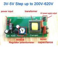 DYKB DC-DC Boost convertisseur haute tension cc 3V-5V pas jusqu'à 200V-620V 400V 200V 300V 350V charge du Module d'alimentation réglable