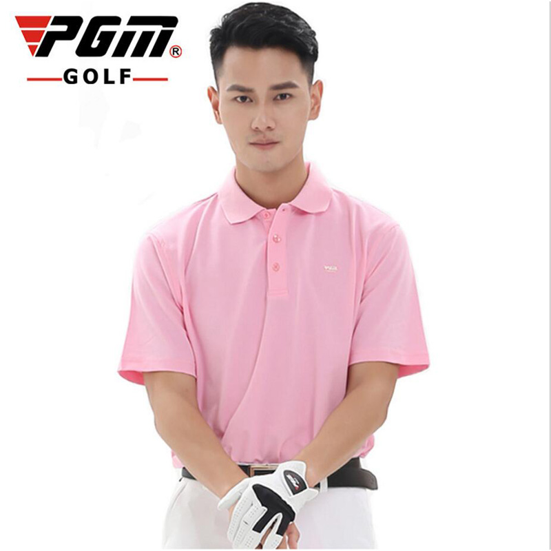 High-quality PGM Golf Clothing Mens Golf shirts 2017 Summer Breathable Elastic Solid color Golf Short Sleeved Polo Uniforms