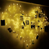 2M x 1.5m Photo clip heart shape LED String Holiday Light Christmas Wedding Decoration Curtain lights