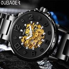 OUBAOER montre automatique mécanique pour hommes, marque de luxe, en acier inoxydable, montre militaire, Business Sport, horloge, tendance 2004