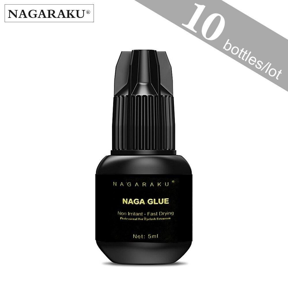 NAGARAKU 5ml whole sale for 10 pcs bottles low odor no simulation eyelash extension glue soft
