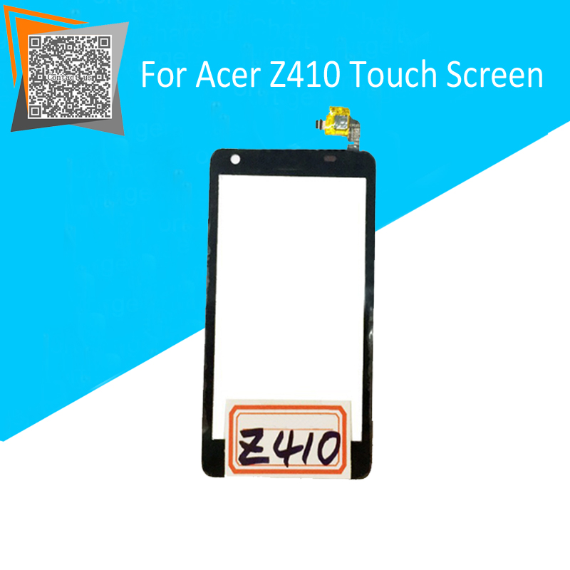 High Quality 4 5 For Acer Z410 Touch Screen Digitizer Sensors Outer Glass Black Replacement Parts