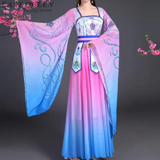 101a688e9 Chinese folk dance costume clothing hanfu ancient fan dance traditional  Chinese dance costumes Stage dance wear