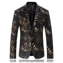 df882e2ded688 Nero Con Lamina D oro Degli Uomini di Modo Alla Moda della Giacca Sportiva  di Alta Qualità Casual Slim Fit Giacca Americana Homb.