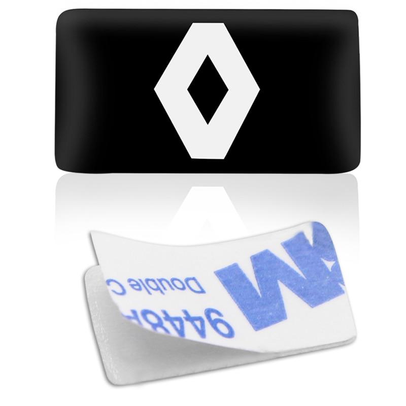 2 шт./лот новый автомобиль укладка небольшие декоративные Знак концентратор Шапки руль для Renault duster megane 2 logan эмблема автомобиля стикеры