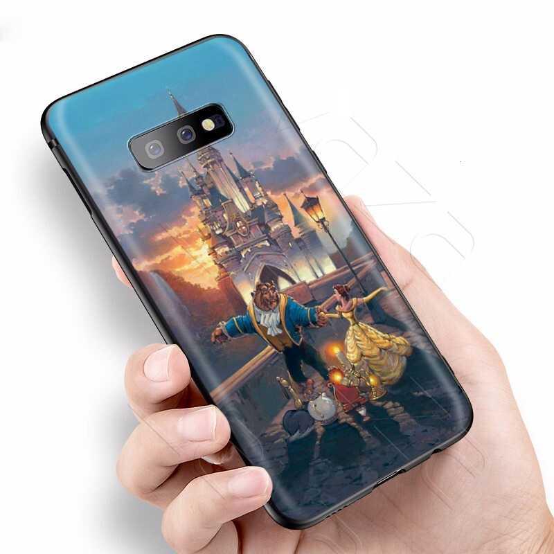 Lavaza belleza bestia princesa Rosa funda para Samsung Galaxy S6 S7 borde J6 S8 S9 S10 más A3 A5 A6 A7 A8 A9 Nota 8 9