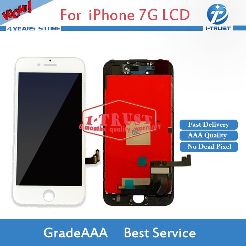 imágenes para 10 UNIDS Grado A + + + LCD Para el iphone 7 7G LCD de Pantalla Táctil Del Reemplazo Digitalizador Asamblea No Muertos Pixel Envío Libre