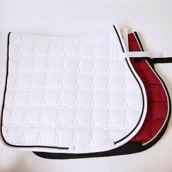 Седло подушки белого цвета и Ударопрочная вставка из потник впитывает пот и утолщенными волосками, с выдвижными ящиками белый седло для лош...