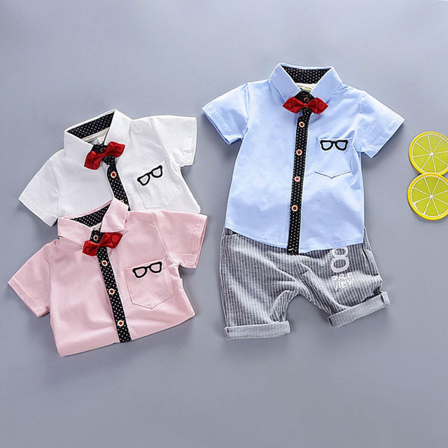 f9bc44dea89ad Hot Gentleman Baby Boy Clothes Shirt Jacket + Pants Casual Sportswear suit  newborn Baby boys Birthday Party Gift clothing sets