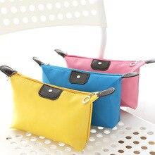 купить 8 Color Dumpling Makeup Bag Solid Color Synthetic Leather Cosmetic Bag Around Soft Portable Korean Version Make Up Bag по цене 139.38 рублей