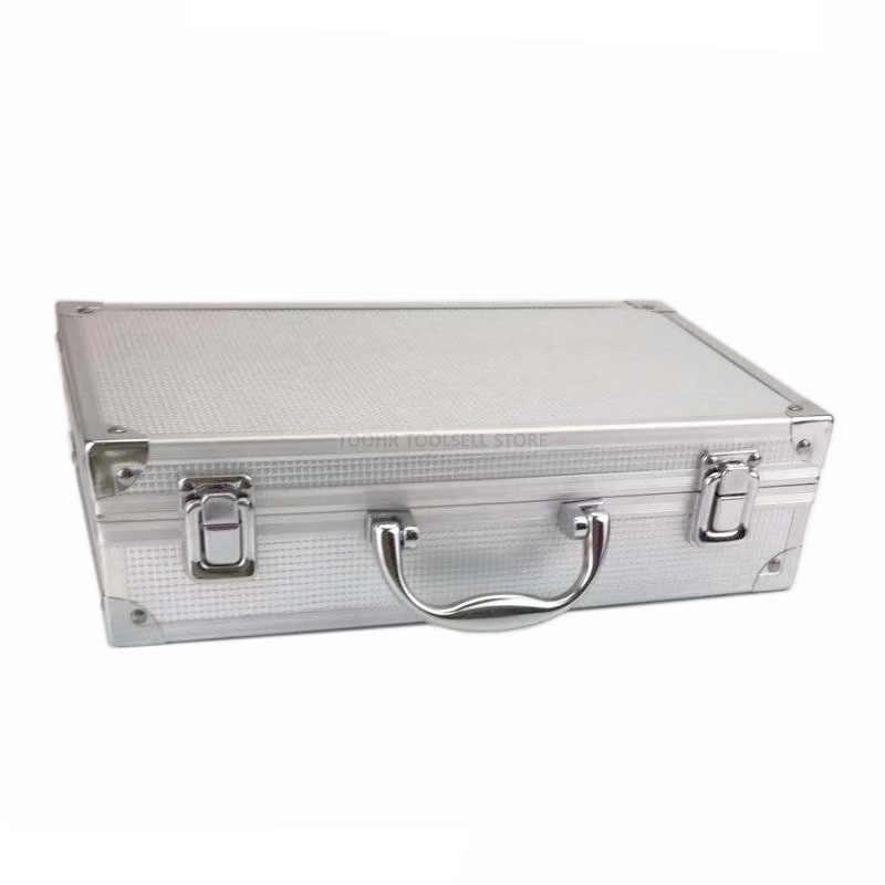Portable Aluminium Kotak Alat Keselamatan Luar Ruangan Peralatan Case Instrument Box Koper Peralatan Kotak Penyimpanan dengan Memotong Spons