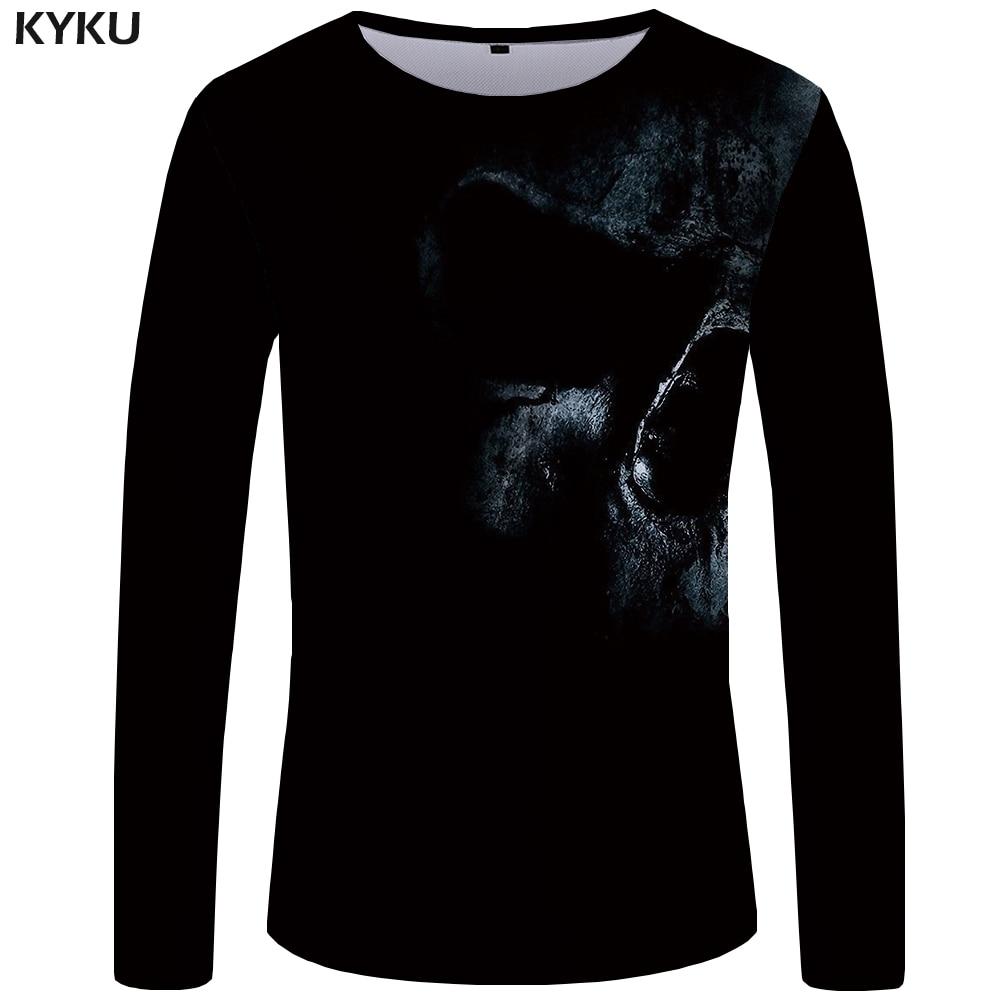 Hombre Para De Con Larga Manga Calavera Kyku Camiseta qw8fSx1XIx