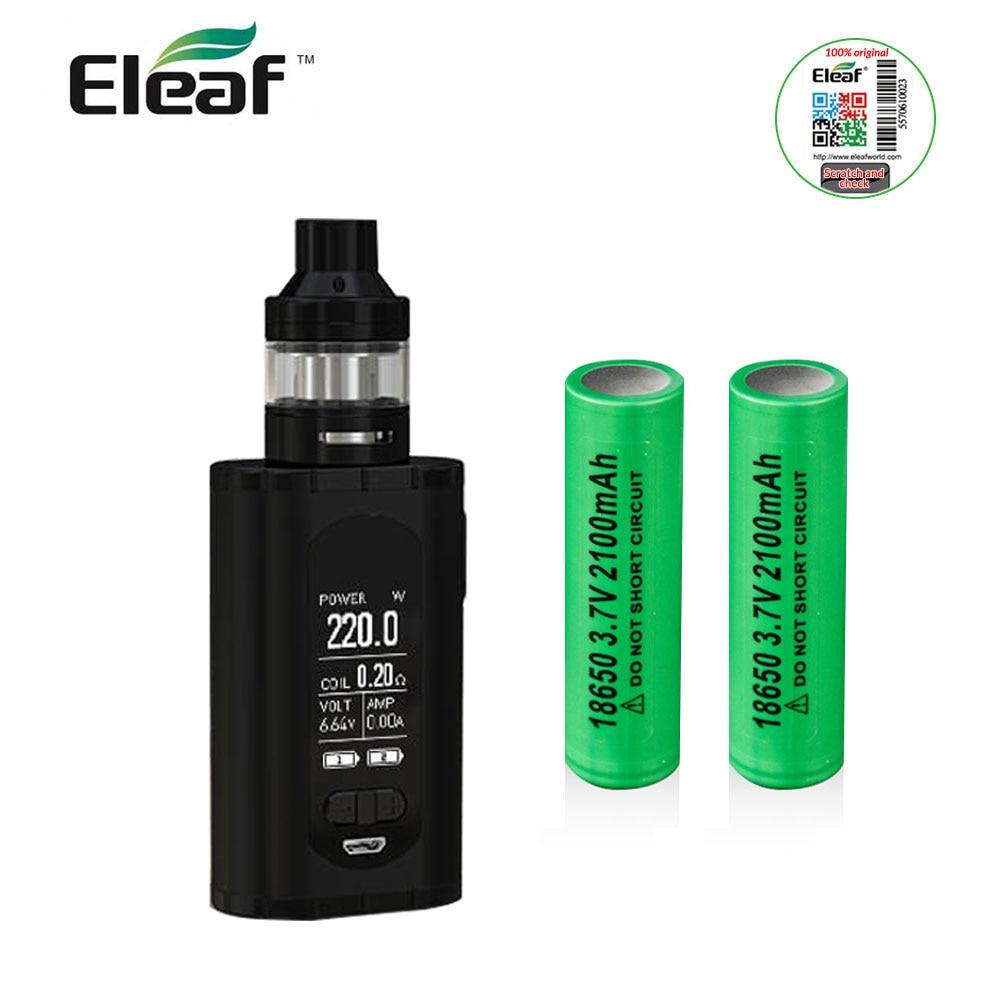 Original Eleaf Invoke with ELLO T Full Kit with 2pcs 18650 Battery 220W 2ml/4ml tank 1.3inch display VW/TC/TCR Mode e-Cigarette