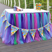 Christmas Decor 100 Polyester Tulle Table Skirt For Wedding Birthday Baby Bridal Showers Parties Tutu Party