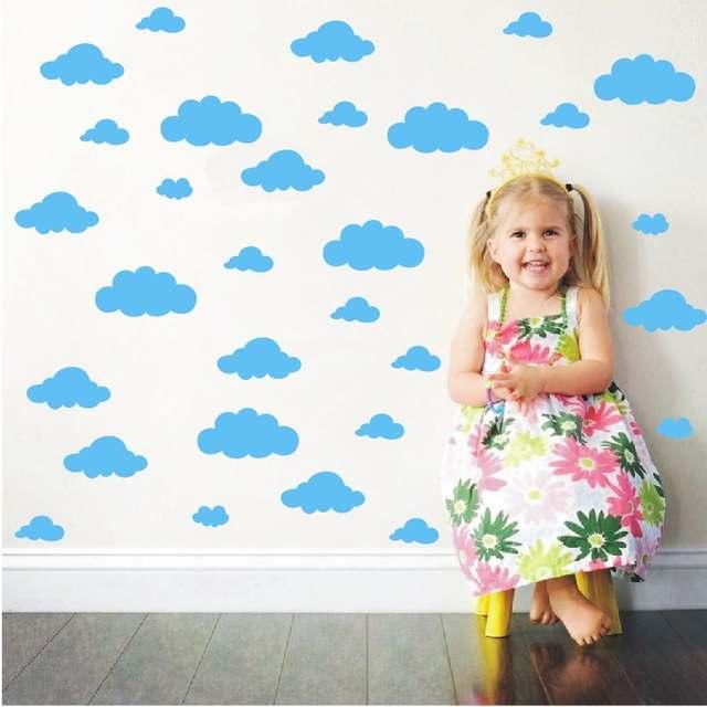 online shop 31pcs/set diy big clouds 4-10 inch wall sticker