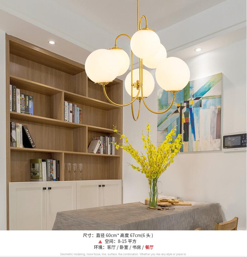 6 Lights Contemporary Crystal Glass Ball Pendant Light Modern Ceiling Lamps Living Room Dining Room Bar Lights in Chandeliers from Lights Lighting