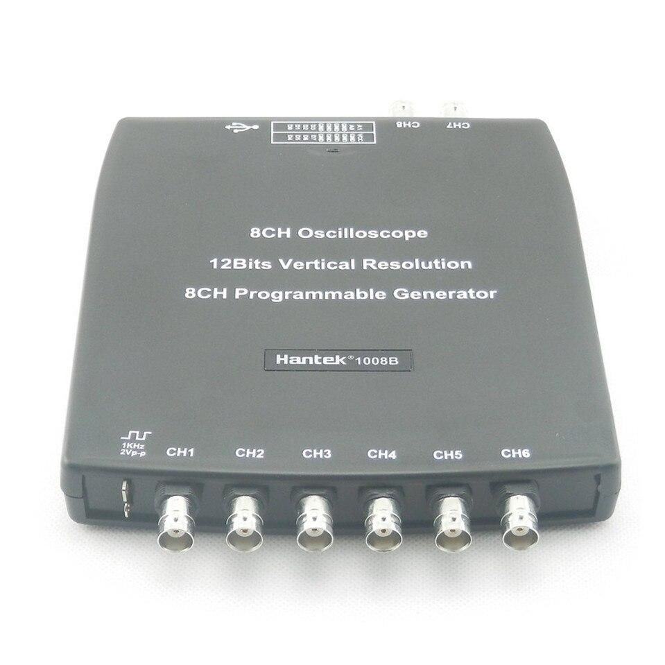 ФОТО 2017 High Quality Original Hantek1008B 8 channels oscilloscope for vehicle testing 2.4MSa/s 12bits Free Shipping