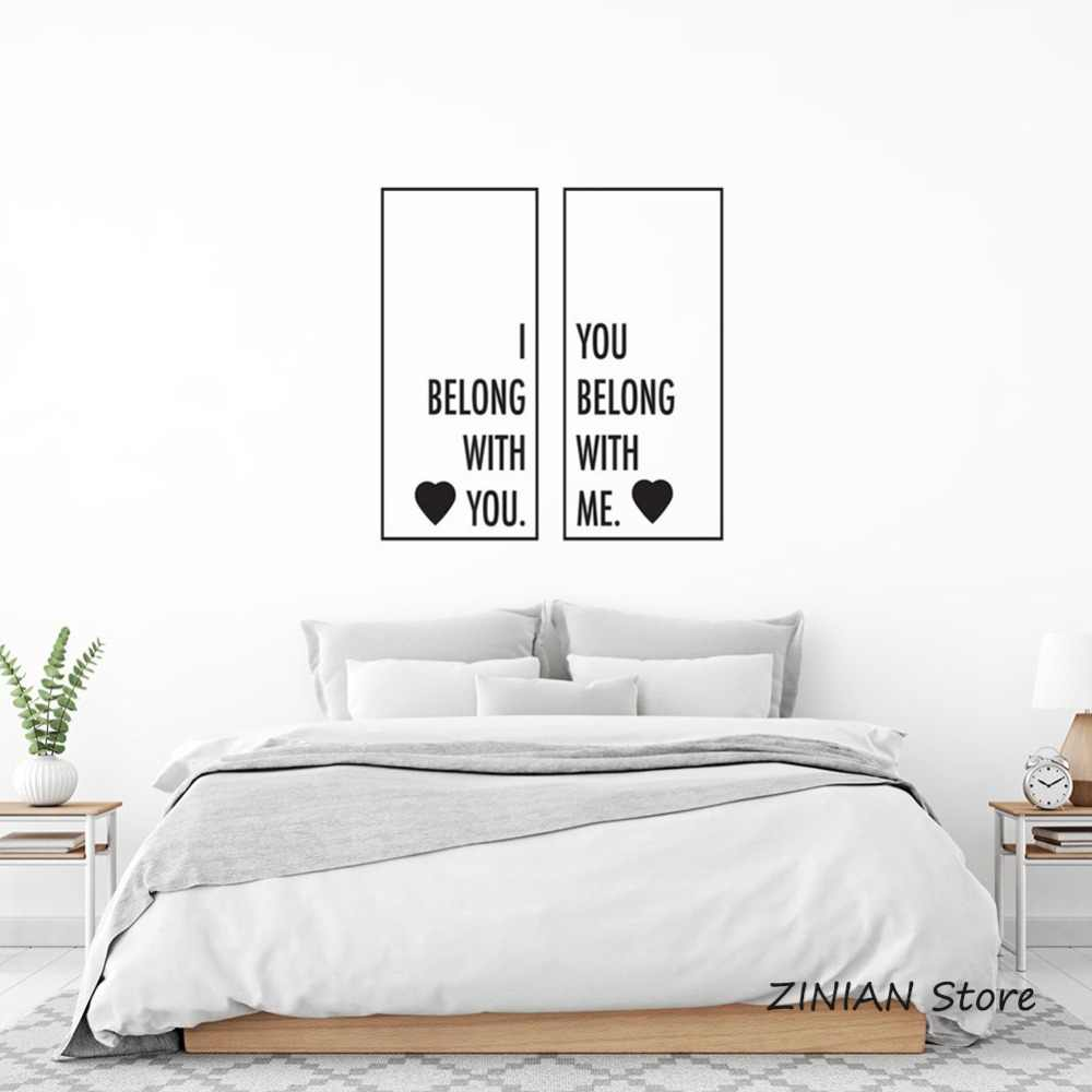 Wedding Room Decoration Stickers We Belong Together Wall Sticker Quote  Romantic Words Wall Decals Bedroom Couple Room Decor 010