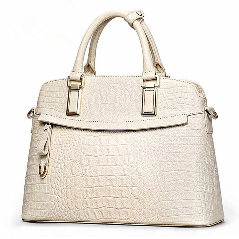 LOVAKIA 2017 Crocodile Women Genuine Leather Embossed Bag Famous Designers Brand Handbag Luxury Cowhide Shoulder Messenger Bags