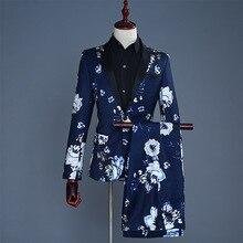 Men 2019 Formal Suits Long Sleeve Dress Mens Casual Banquet Sprint Blue Suit Slim Fit Clothing Red Two Piece Set Coat Pants S
