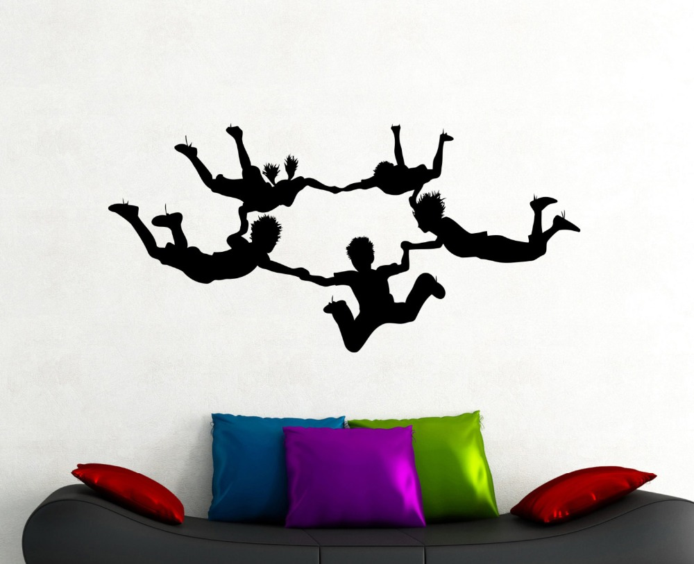 Online Get Cheap Silhouettes Wall Mural Aliexpresscom Alibaba - Sporting wall decals