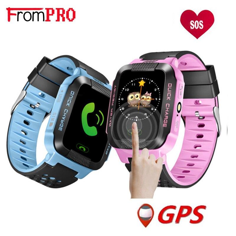 Y21 GPS Children Smart Watch Anti - Lost Flashlight Baby Watch SOS Call Location Device Tracker Kid Safe vs Q528 Q750 Q100 Q42